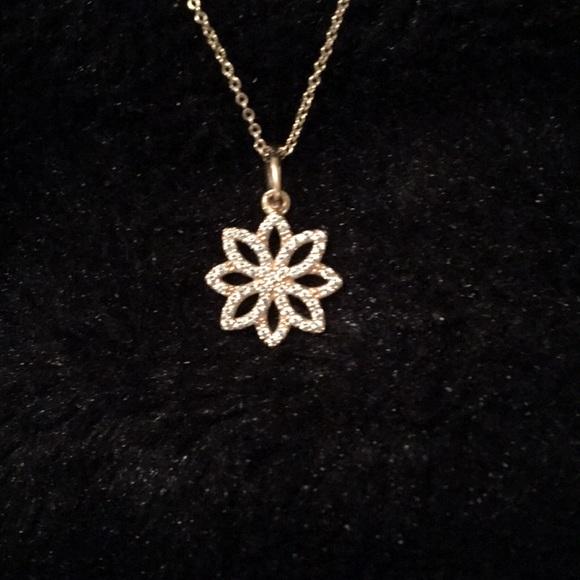 83602cfaca06c Pandora 14k gold and CZ diamonds necklace! 💗💗💗
